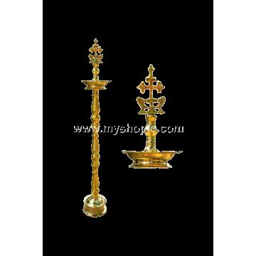 Sleeba Cross Head Brass Oil Lamp
