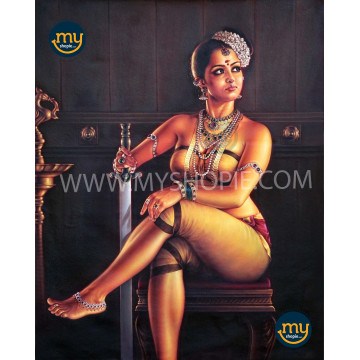 Thamburatti Kerala Traditional Oil Painting