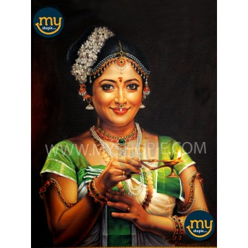 Lakshmi Gopalaswamy Kerala Traditional Oil Painting