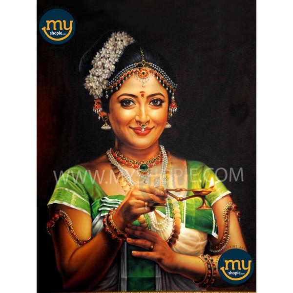 Lakshmi Gopalaswamy Kerala Traditional Oil Painting