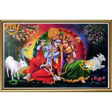 Krishna and Radha Airbrush Painting