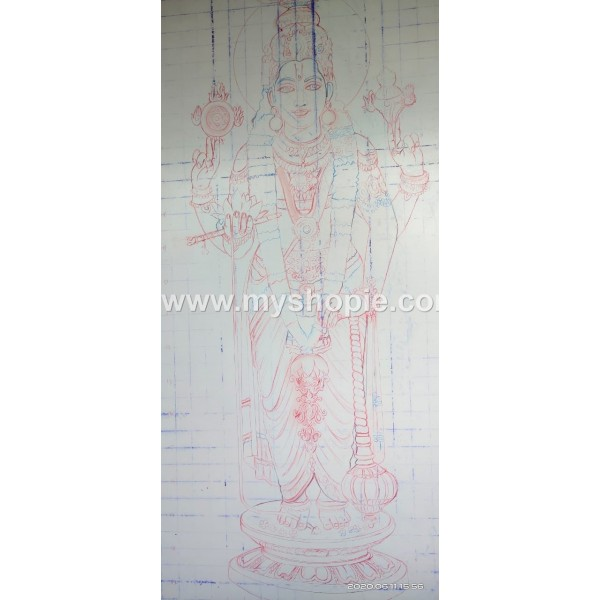 Guruvayurappan Airbrush Painting
