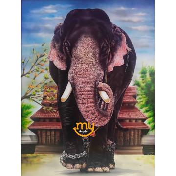 Thechikottukavu Ramachandran Elephant Airbrush Painting