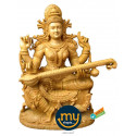 Goddess Saraswati Handicraft Wooden Sculpture