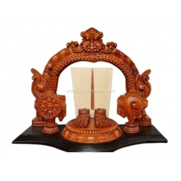 Srivari Padam Wooden Sculpture