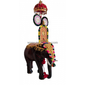 Decorated Handicraft Wooden Elephant