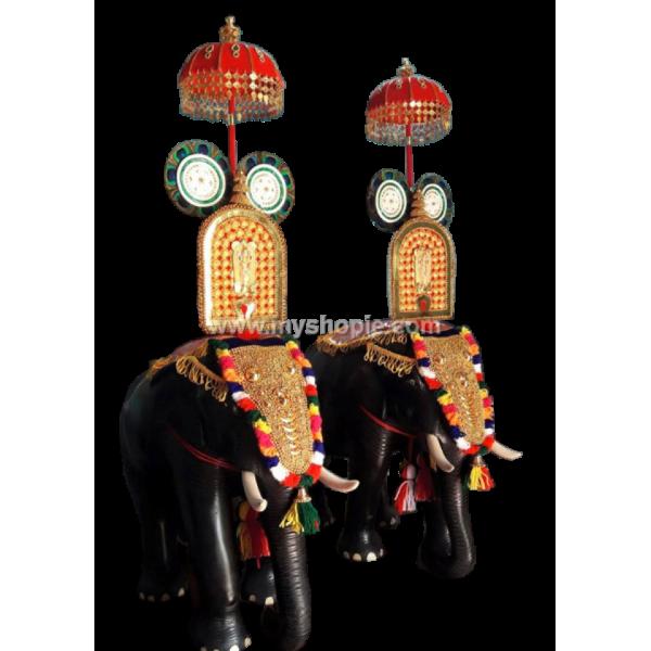 Decorated Handicraft Wooden Elephant