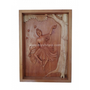 Wooden Wall Hanging Dancing Buddha