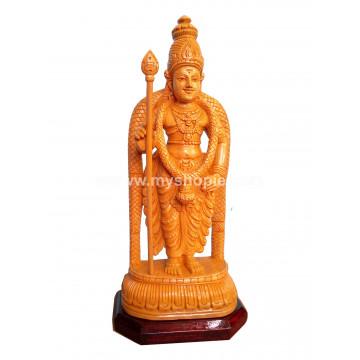 Lord Murugan (Vratvijaya) Handicraft Wooden Sculpture