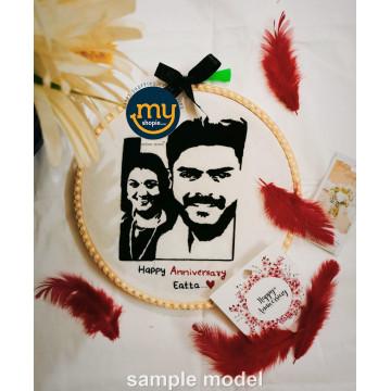 Custom Portrait Embroidery Face Illustration