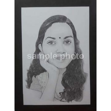 Custom Pencil Caricature Portrait