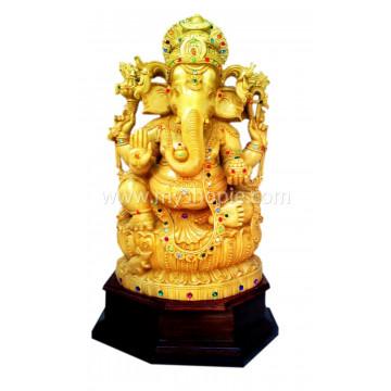 Ganesha Statue with Stone