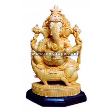 Ganpati with Rat Sculpture