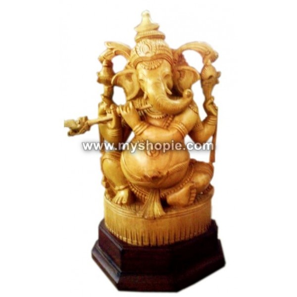Lord Ganesha with Flute