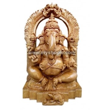 Lord Ganesha Blessing Sculpture