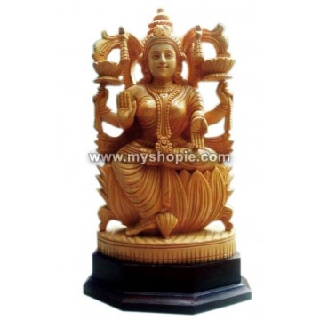 Mahalakshmi Wooden Sculpture