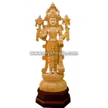 Mahavishnu Wooden Sculpture