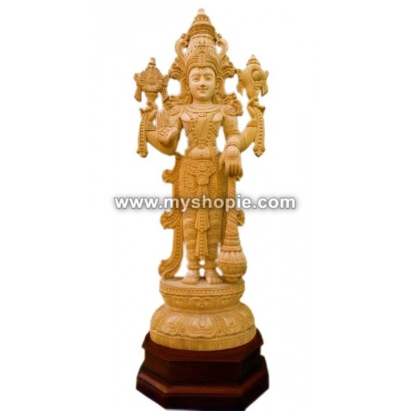 Mahavishnu Wooden Sculpture