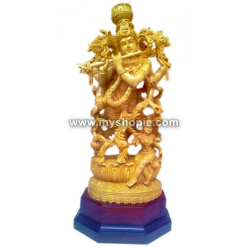 Lord Shri Krishna Wooden Sculpture