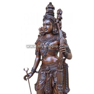Lord Sri Rama Wooden Sculpture