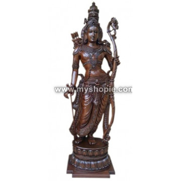 Lord Sri Rama Wooden Sculpture