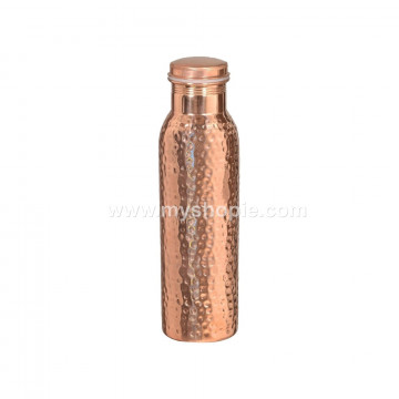 Seamless Hammered Copper Water Bottle