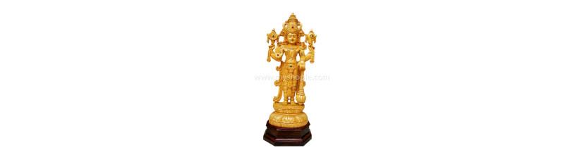 Myshopie.com |Handicraft Wooden God Statue | Vishnu