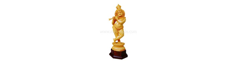 Myshopie.com |Handicraft Wooden God Statue | Unnikrishnan