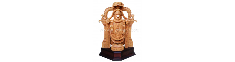 Myshopie.com | Handicraft Wooden God Statue |Thirupathi Venkatachalapa