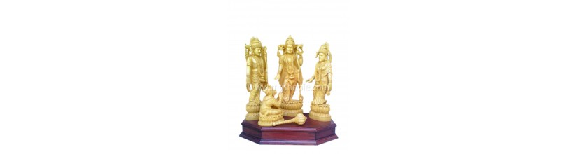 Myshopie.com   Handicraft Wooden God Statue  Sri Raman