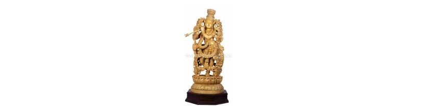 Myshopie.com   Handicraft Wooden God Statue  Muralidhar Krishna
