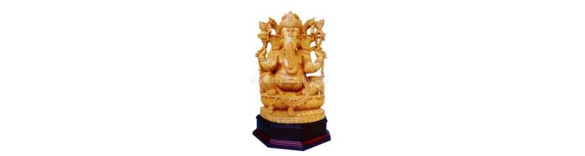 Myshopie.com | Handicraft Wooden God Statue |Ganesh