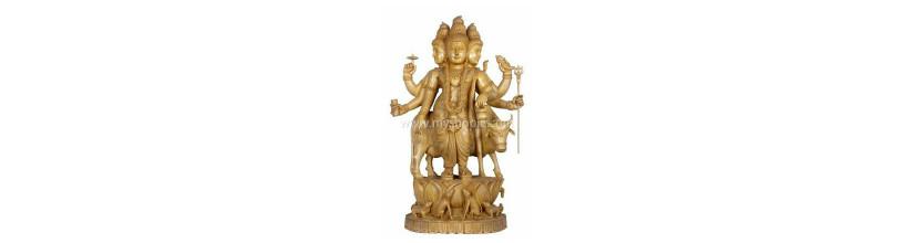 Myshopie.com | Handicraft Wooden God Statue |Dattatreya