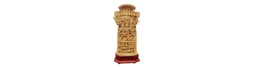 Myshopie.com | Handicraft Wooden God Statue | Viswaroopam