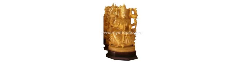 Myshopie.com | Handicraft Wooden God Statue | Saraswathi