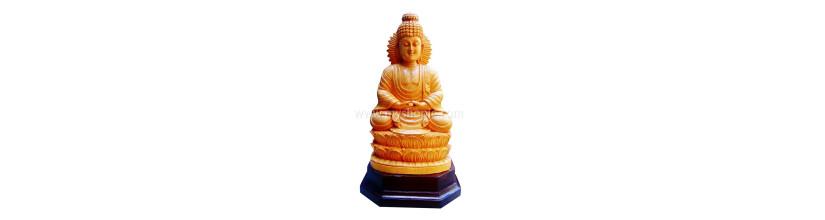 Myshopie.com | Handicraft Wooden God Statue | Gautama Buddha