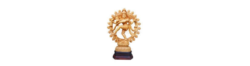 Myshopie.com | Handicraft Wooden God Statue | Nadaraja